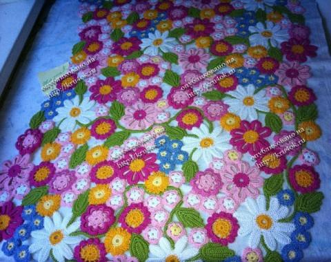 Цветное платье связанное крючком