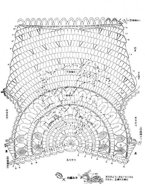 Голубая кофточка «Медуза», связанная крючком