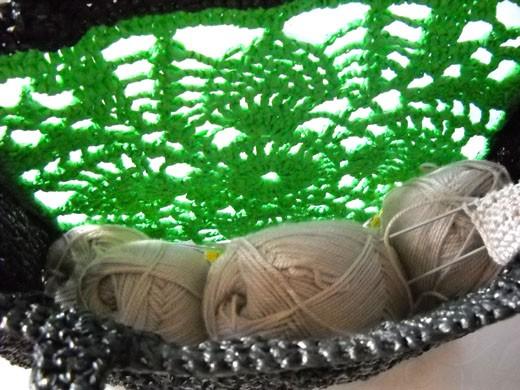 вязаные сумки из полиэтилена - Сумки.