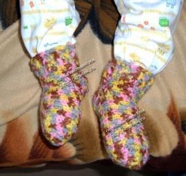 Вязание носков крючком