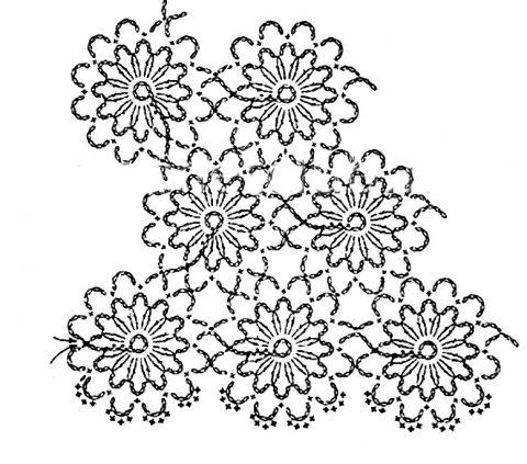 схема безотрывного вязания блузки