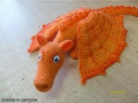 """Вязаная игрушка Дракоша """"Апельсин"""""""