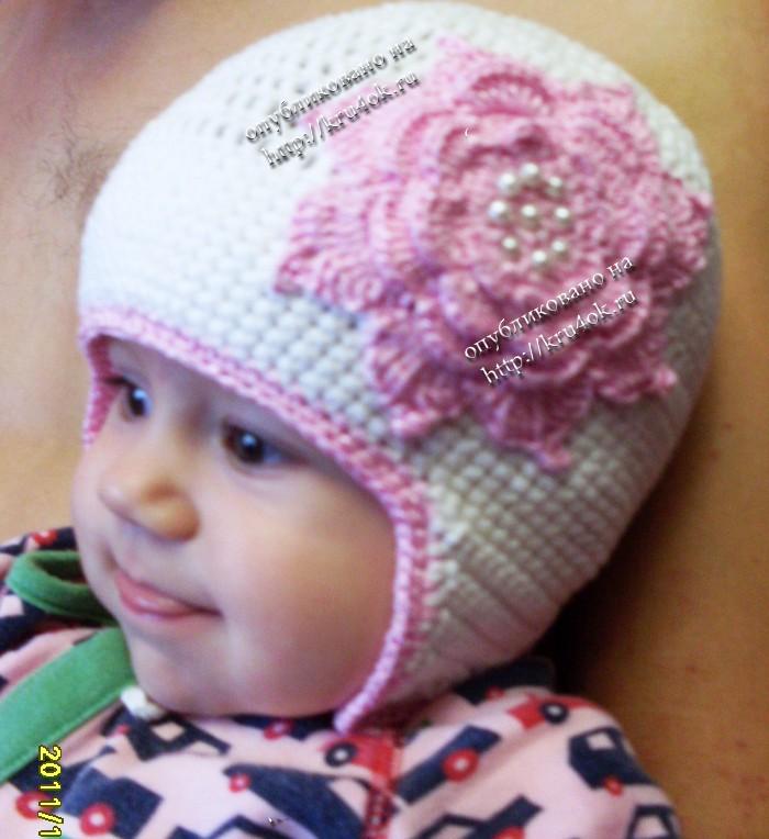 Детская осенняя шапочка «