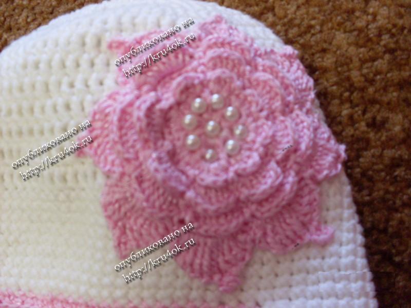 Вяжем по схеме донышко шапочки