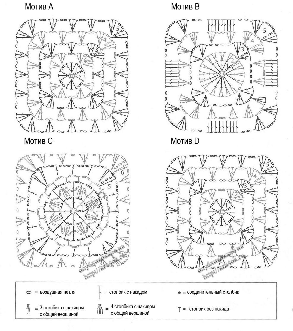 Вязаные пледы крючком схемы и описание самые простые