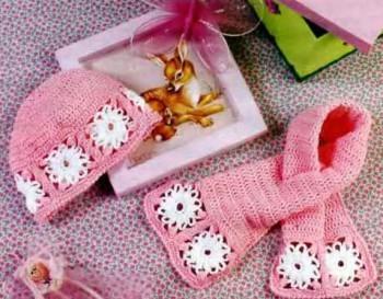Комплект для малышки: шапочка и шарф
