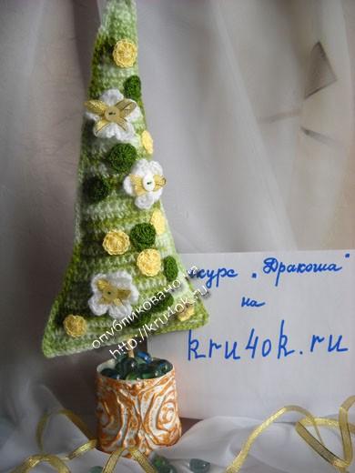 Цветущие ёлочки крючком