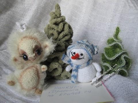 Дракоша Сплюшка и снеговик Снежик
