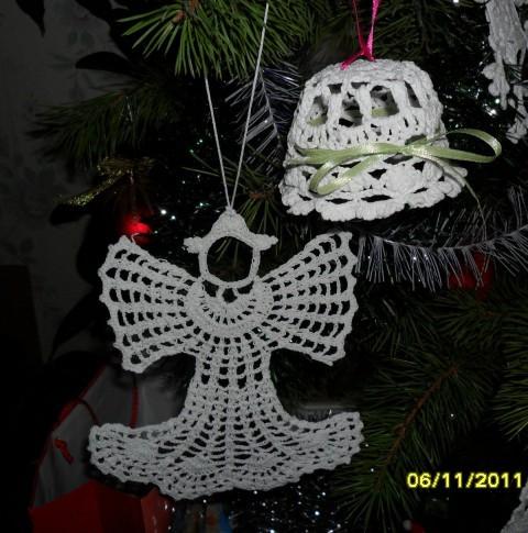 Ангелы, связанные крючком