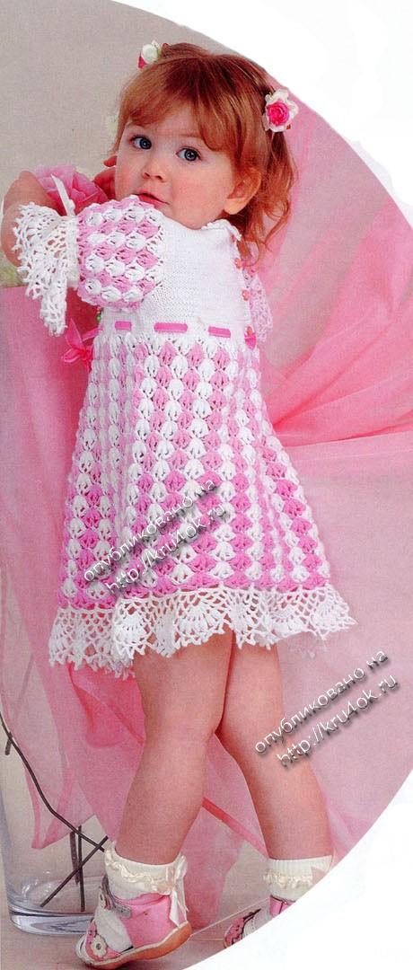 Платье вязание крючком на kru4ok ru