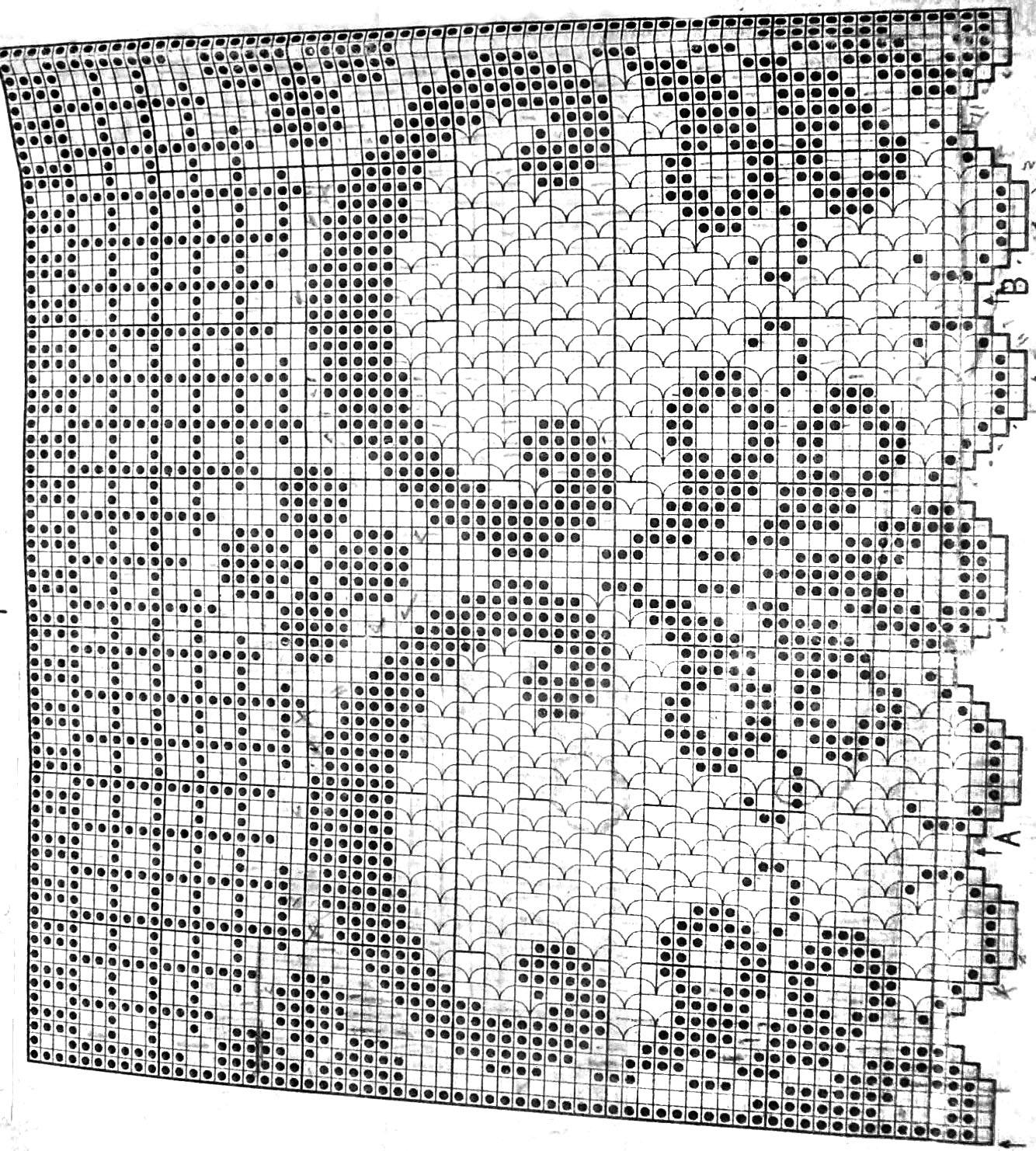 Юбка в филейной технике крючком схема