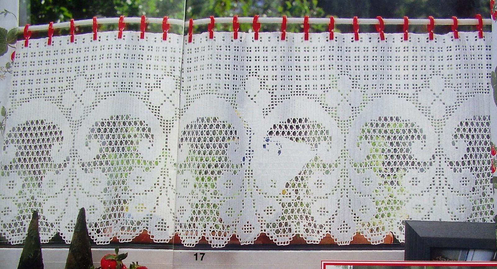 схема вязание штор в филейной технике