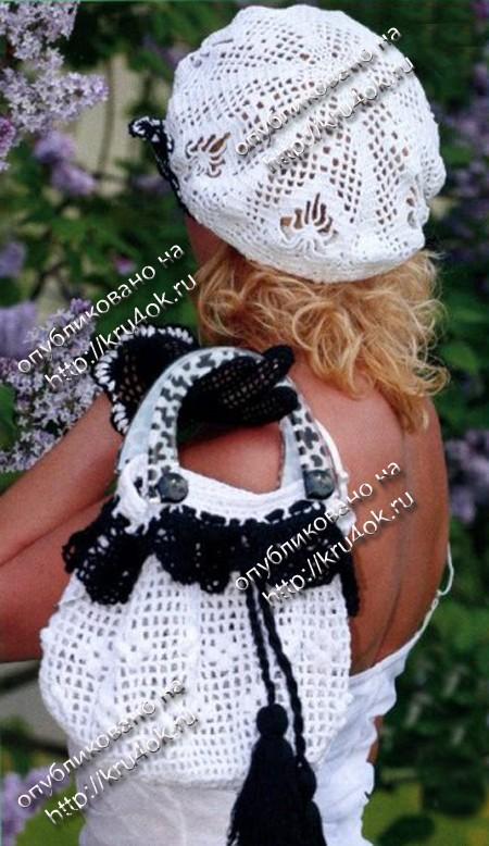 Летняя сумочка и перчатки связанные крючком