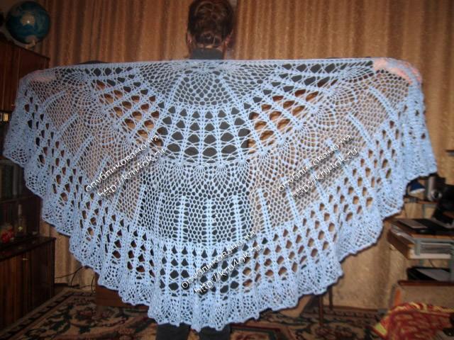 Схемы для вязания шали и