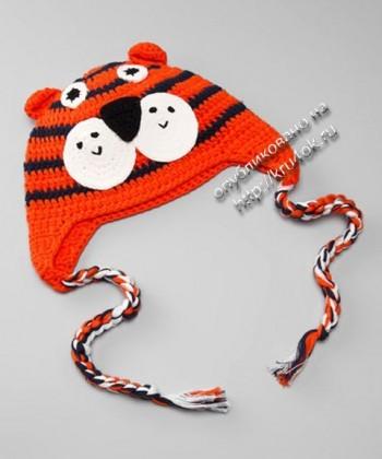 Смешные детские шапки, связанные крючком