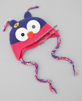 Смешные детские шапки, связанные крючком.