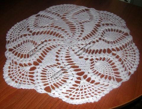 Салфетки из простых петель вязания крючком