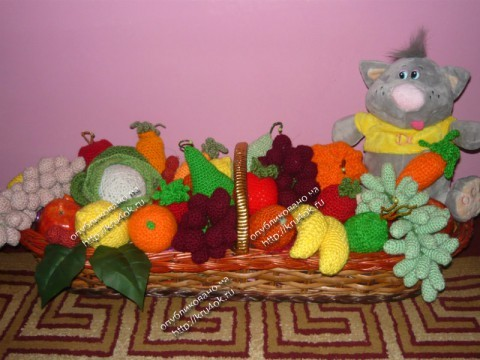 вязаные крючком фрукты