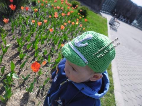 Зеленая кепка для мальчика