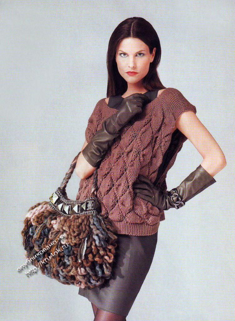 ежедневный журнал про вязание крючком * в рубрике Вязаные сумки 61...