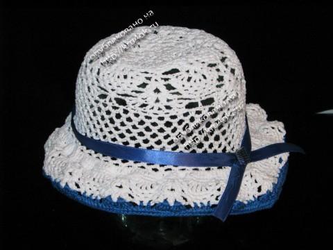 Ажурная шляпка для девочки, связанная крючком
