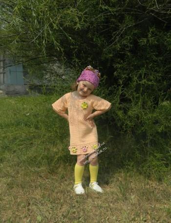 детское платье, связанное крючком