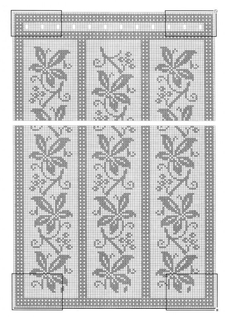 Схема вязания шторы крючком