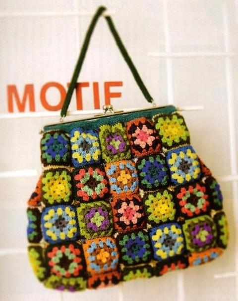 сумочки из квадратных мотивов