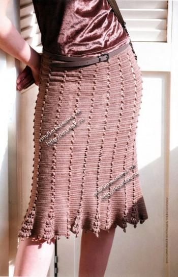 Женская юбка, связанная крючком