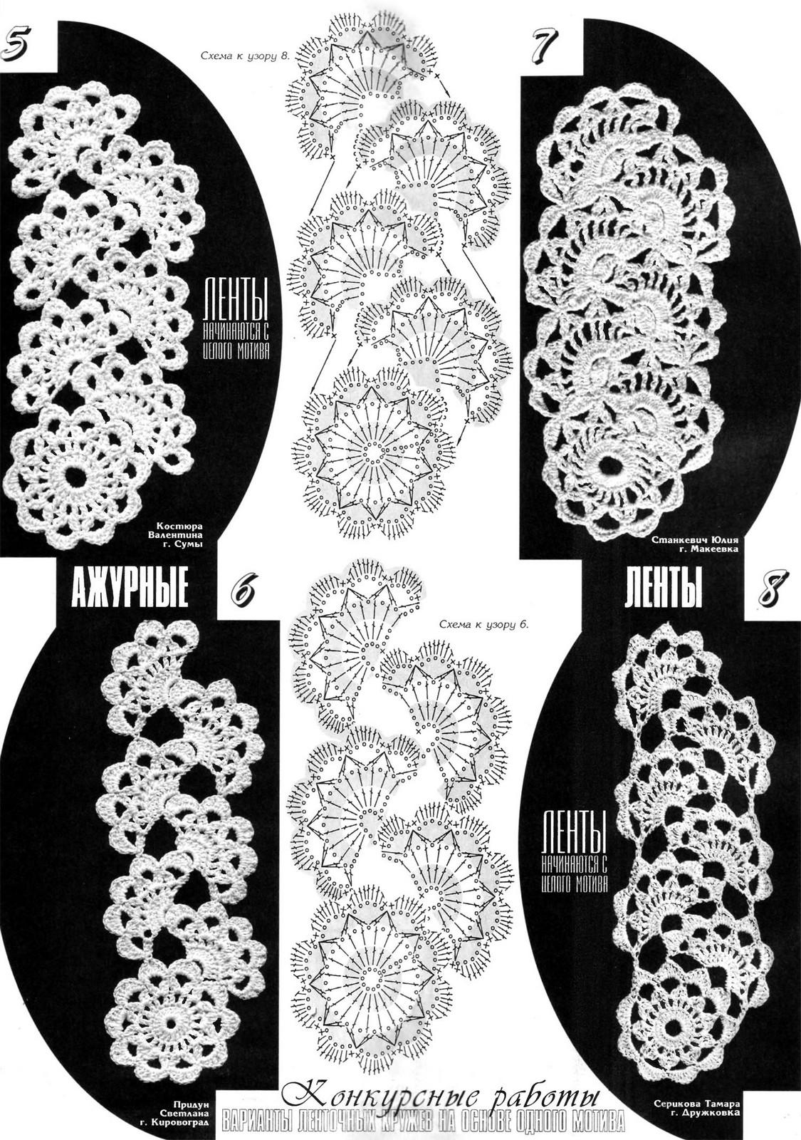 Вязание ленточных кружев схемы 770