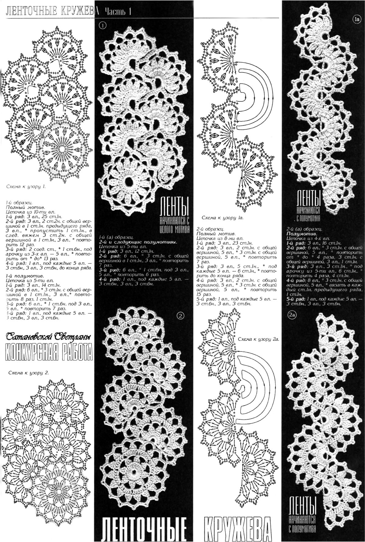 Ажурное вязание ленточное кружево