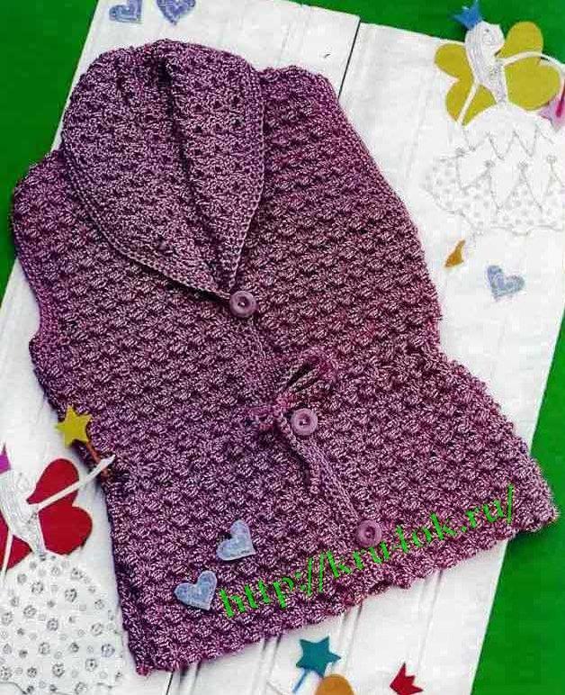 Вязание детского жилета спицами, вязание для детей.
