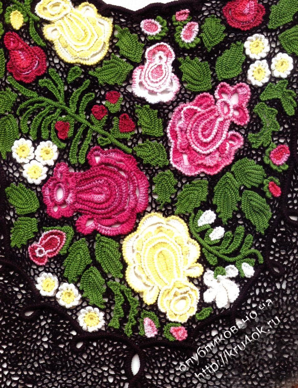 Вязание лепестков роз крючком