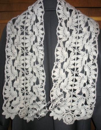 шарфы в технике ленточного кружева