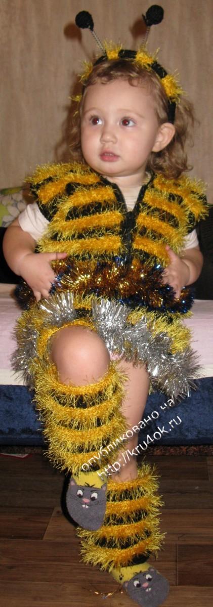 костюм пчелки, связанный крючком