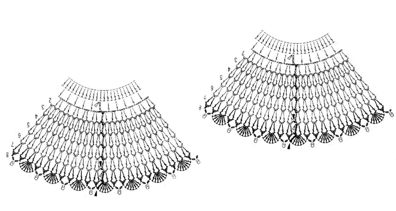 Схемы вязания платьев крючком для кукол