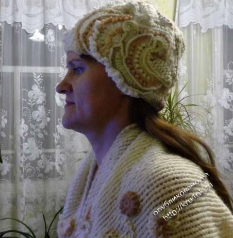 шарф, шапочка и варежки