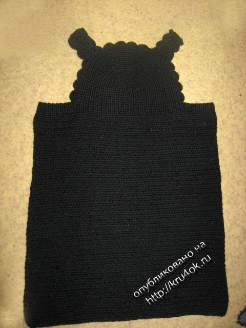 детский костюм, связанный крючком