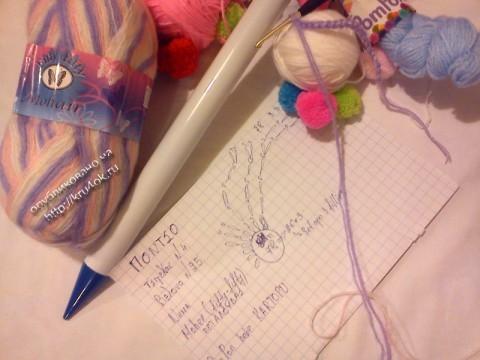 фото вязаного крючком пончо для девочки