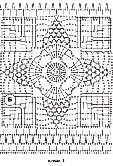 схемы вечерней кофточки, связанной крючком