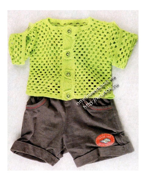 фото вязаной крючком кофты для мальчика