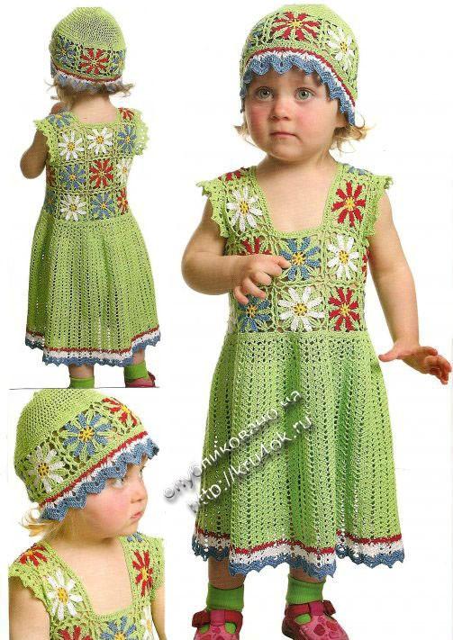 Ажурное платье для девочки2-х лет