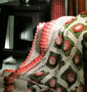 фото вязаного крючком пледа
