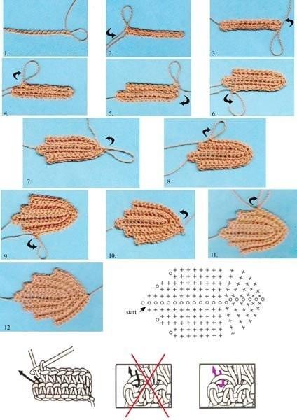 Еще схемы вязания кленовых