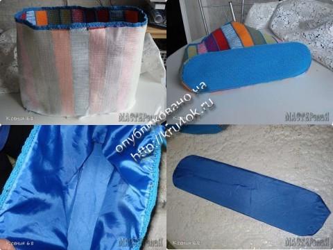 фото вязаной сумочки из остатков пряжи