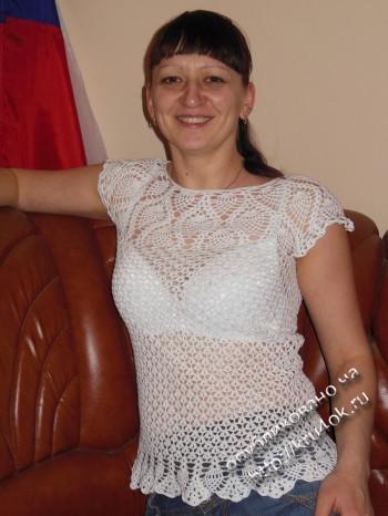 фото вязаной блузки
