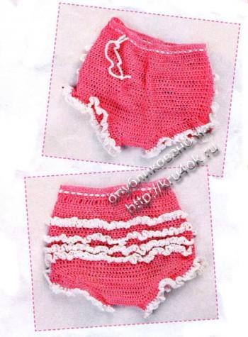 фото вязаных трусиков для малышей