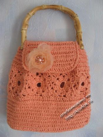 фото вязаной крючком сумочки