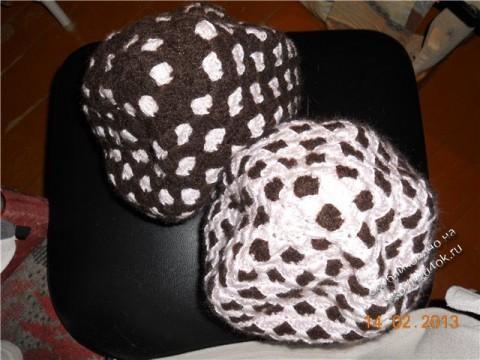 фото вязаной крючком шапки