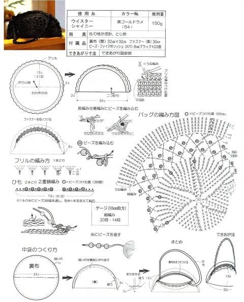 схема вязаной крючком сумки